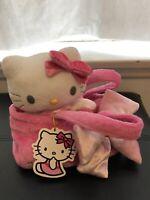 Sanrio Hello Kitty Plastic Bag With Ties Pink Hearts