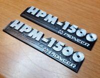 Pioneer HPM-1500 Speaker Badge Emblem Logo Name Plate pair reproduction