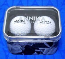 2 Annika Sorenstam Callaway Warbird Facsimile Signature Golf Balls Cutter & Buck