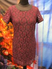 BNWT! NEXT Petites Lacy Dress in Plum *UK 8* Christmas Party - A2