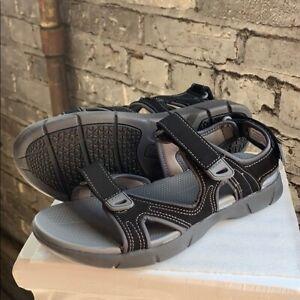 NEW Khombu Women's Evelyn Sandal Black Adjustable Straps Comfort Pick Size