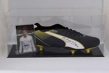 Emilio Butragueno Signed Autograph Football Boot Display Case Real Madrid COA