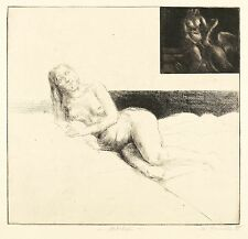 Ulrich hachulla - aktstudie - Aguafuerte & aquatinta 1980