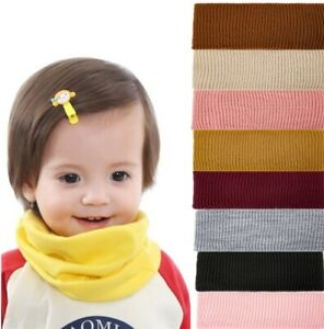 Infant Girl Boy Soft Neck Loop Knit Winter Scarf Fleece Knitted Warm Baby Snood