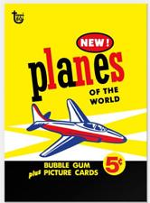 2018 Topps Wrapper Art #27 Planes of the World 1957 Card Retro Print Run 221