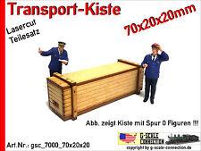 Spur 0 Lasercut 2x Transport Kiste 70x20x20mm aus Holz für z.B. Lenz Brawa MBW