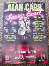ALAN CARR SPEXY BEAST TOUR 2011 LONDON A4 POSTER