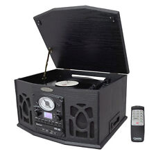 Pyle PTCDS5U Vintage Turntable With Cassette/Radio/Aux-In/USB/SD/MP3