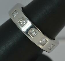 Very Heavy & Chunky Platinum and Diamond Stack Band Ring