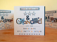 Father's Day card- Dad & Grandad/Grandpa/Papa Fathers personalised special card