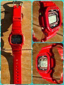 Casio G-Shock GLX-5600-4 Moon/Tide Red G-lide Watch NEW BATT! EUC!! NO RSRV!!
