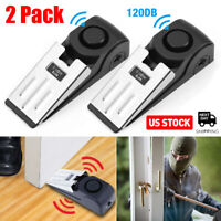 2Pack Door Stop Alarm Home Travel Wireless Security Alert Portable Home Kits USA