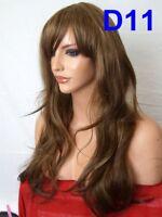 "UK Top Sale 18-28"" Womens Long Hair Full Wig Party Costume Cosplay Wig Halloween"