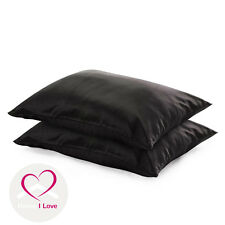 100% 22mm Silk Black Pillowcases set of 2 Pamper Skin&Hair, Antiageing 70*50 cm
