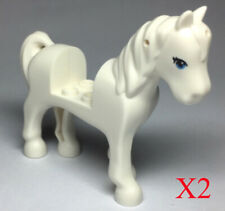 Lego Trans-Light Blue Horse 41168 with 2 x 2 Cutout Long Swooshy Tail Minifigure