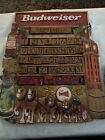 Vintage Budweiser King of Beers Wooden Perpetual Calendar Very Rare 14 1/2 x 12