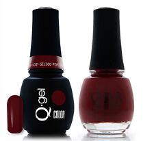 Gel & Polish QRS Beauty Combo MAT380 Portside Red Color