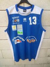 Maillot basket COB SAINT-BRIEUC porté n°13 ERREA shirt bleu XXXL 3XL maglia