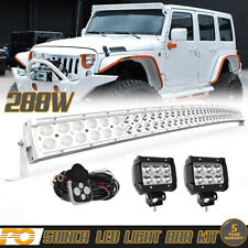 Curved 52inch 288W LED Light Bar Flood Spot Work Offroad For SUV UTV Truck 50""