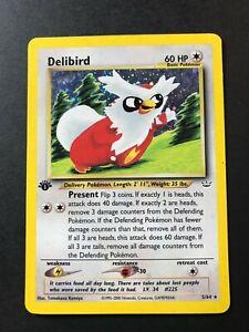 Delibird 5/64 1st Edition Rare Holo Foil Neo Revelation Pokemon Card