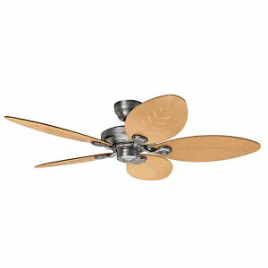 """Ceiling fan with pull switch IP44 Hunter Outdoor Elements Aluminium 137 cm 54"""""""