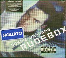 """ROBBIE WILLIAMS """" RUDEBOX """" CD+DVD SIGILLATO SPECIAL EDITION PRIMA EDIZIONE"""