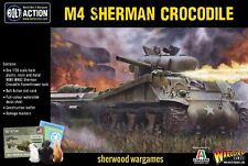 28mm Warlord Games Sherman Crocodile Flamethrower Tank, US WWII Bolt Action BNIB