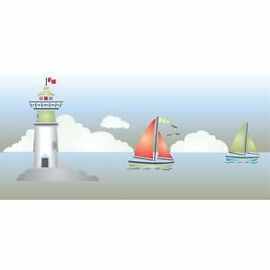 Lighthouse Stencil 30.5 x 12.5cm Reusable Sea Ocean Sailboat Border Template