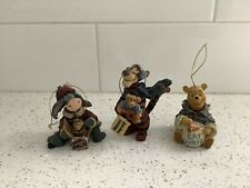 Boyd's Bears Winnie the Pooh Tigger Eeyore Disney Christmas Ornaments lot