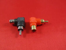 Lot of 2, RCA Male to Female Right Angle Adapter 90 Degree, Black and Red.