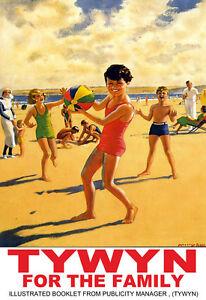 Tywyn for the Family Travel Poster Art  Print