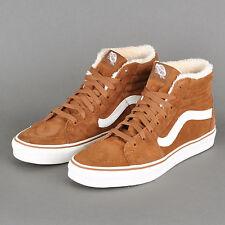 Vans Sk8 Hi Pig Suede Mink Robe Brown White Shoes Mens 7.5 Women 9 Faux Fur