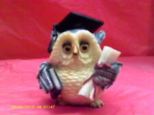 China Hoot Owl  Figurine Collectible Graduation graduate ( Polyresin )