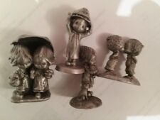 Hallmark Little Gallery Pewter Betsy Clark Figurines Lot of 4 Free Ship