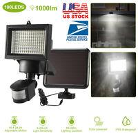 100 LED Solar Power Light PIR Motion Sensor Garden Security Wall Lamp Waterproof