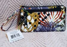 Vera Bradley Front Zip Wristlet- Painted Feathers- NWT- Exact Item
