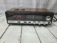 Realistic Chronomatic-223 AM/FM Stereo LED Digital Alarm Clock Radio ~ Works!