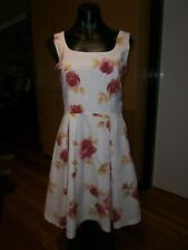 100 % cotton summer fit and flare dress size 10 by H & M
