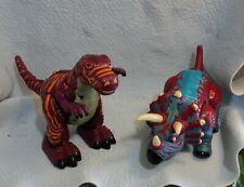 2 Fisher Price Walk & Roar Dinos: Raider The Allosaurus & Trample The Triceratop