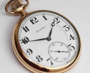 1920 ILLINOIS BURLINGTON 21 Jewel Railroad Pocket Watch w/ HORSES ENGRAVED