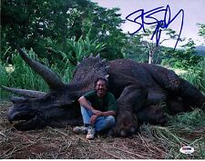 STEVEN SPIELBERG SIGNED JURRASIC PARK 11X14 PHOTO! AUTOGRAPH! PSA DNA! OSCAR