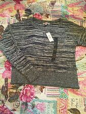 Banana Republic Women Crew Neck Pullover Blue Sweater Size: S New With Tag