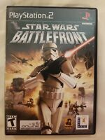 Star Wars: Battlefront ps2 SONY PLAYSTATION TWO BLACK LABEL CIB TESTED FREE S/H
