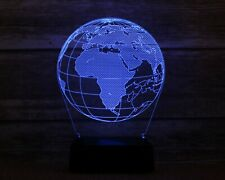 3D Nightlight Earth Creative 3D Visualization Lamp Touch-Switch LED 7 Colors 9''