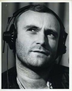 Phil Collins Genesis headphones 1981 Radio Show Vintage stamped Agency Photo
