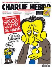 Charlie hebdo 1151 Sarkozy n'est pas en grève .