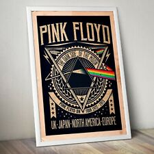 Pink Floyd, The Dark Side of the Moon tour poster 1972-1973 Artwork/Print.