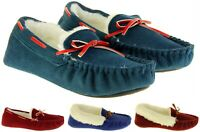 Womens DUNLOP Faux Fur Lined Corded or Felt Luxury Slippers Sizes UK 3 4 5 6 7 8