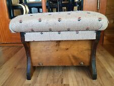 Vintage Sewing Box Bench Ottoman