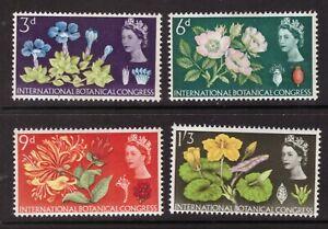 1964 Botanical PHOSPHOR SET SG 655p - 658p Mint hinged